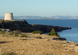 Defence towers on Formentera